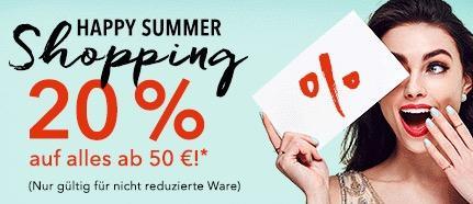 20% Rabatt ab alles 50€ bei douglas.de - jetzt 20% billiger
