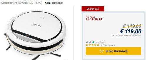 MEDION MD 16192 Saugroboter - jetzt 17% billiger