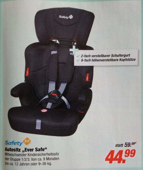 Safety 1st Ever Safe Kindersitz Gruppe 1/2/3, ab circa 12 Monate bis 12 Jahre, - jetzt 16% billiger