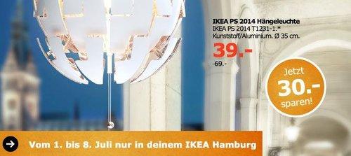 IKEA IKEA PS 2014 Hängeleuchte, Kunstoff/Aluminium, 35 cm - jetzt 43% billiger