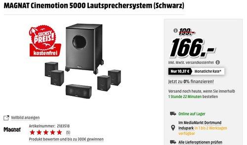 Magnat Cinemotion 5000 Lautsprechersystem - jetzt 17% billiger