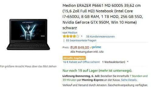 MEDION Erazer P6661 (MD 60005) - jetzt 11% billiger