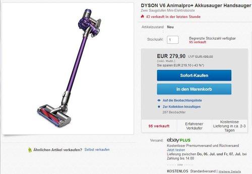 DYSON V6 Animalpro+ Akkusauger - jetzt 16% billiger
