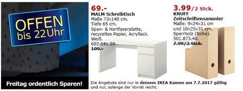 IKEA MALM Schreibtisch, 73x140 cm, 65 cm hoch, weiß - jetzt 37% billiger