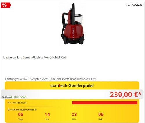 Laurastar Lift Dampfbügelstation Original Red - jetzt 11% billiger