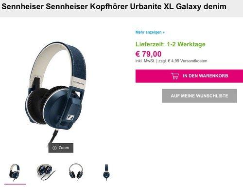 Sennheiser Kopfhörer Urbanite XL Galaxy denim - jetzt 44% billiger