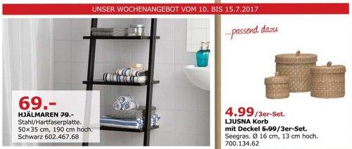 IKEA HJÄLMAREN Leiter-Regal, 50x35 cm, 190 cm hoch, schwarz - jetzt 13% billiger