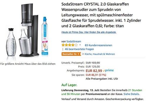 SodaStream CRYSTAL 2.0 Titan - jetzt 6% billiger