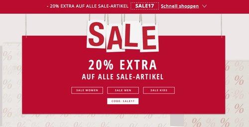 20 % Rabatt Extra auf alle Sale-Artikel bei Esprit.de - jetzt 20% billiger