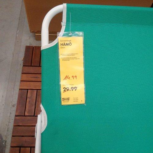 IKEA  HAMÖ Sonnenliege, grün - jetzt 50% billiger