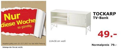 IKEA  TOCKARP TV-Bank, 114x38 cm,  weiß - jetzt 38% billiger
