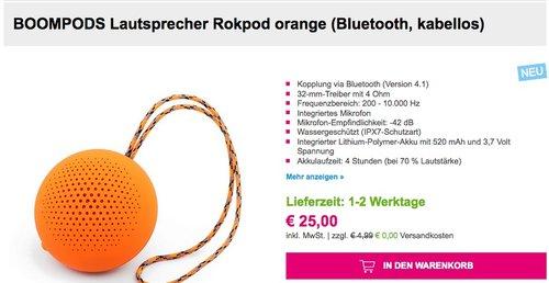 Boompods Rokpod Lautsprecher - jetzt 34% billiger