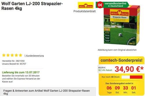 WOLF-Garten Strapazier-Rasen LJ 200 - jetzt 23% billiger