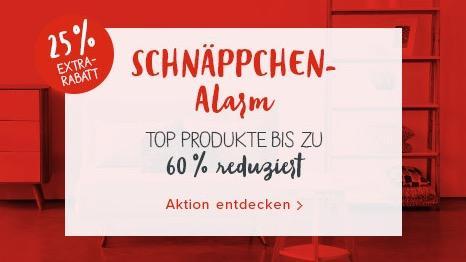 Sale mit bis zu 60% Rabatt + 25% Extra-Rabatt bei Home24 (Bsp. Etagenbett Stefan -Massivholz Buche) - jetzt 25% billiger