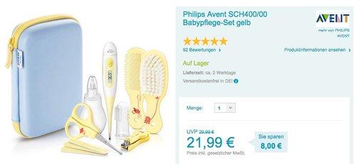 Philips Avent SCH400/00 Babypflege-Set - jetzt 21% billiger