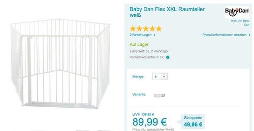 Baby Dan Flex XXL Raumteiler weiß - jetzt 15% billiger