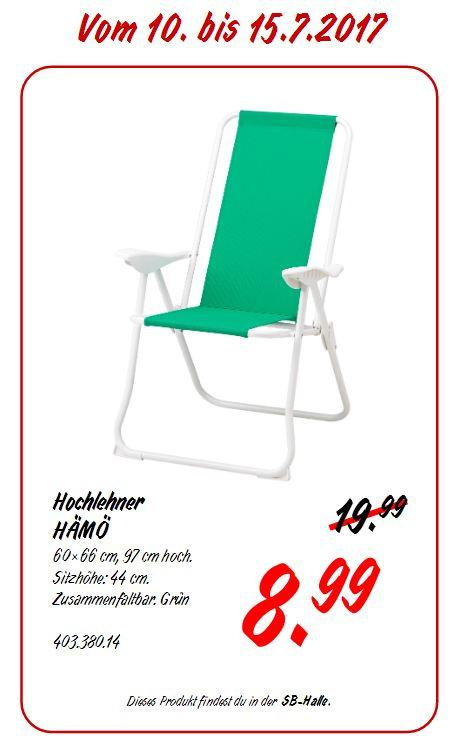 IKEA  HAMÖ Hochlehner, 60x66 cm, 97 cm hoch, grün - jetzt 55% billiger