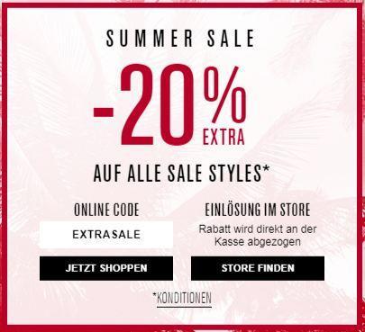 20 % Rabatt Extra Rabatt auf alle Sale bei s.Oliver - jetzt 20% billiger