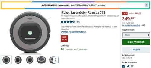 iRobot Saugroboter Roomba 772 - jetzt 13% billiger