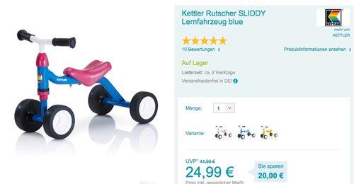 Kettler Rutscher SLIDDY Lernfahrzeug - jetzt 34% billiger