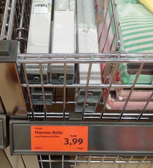 Thermo-Rollo 80x150 cm - jetzt 50% billiger