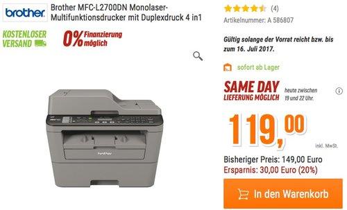 Brother MFC-L2700DN Monolaser-Multifunktionsdrucker - jetzt 15% billiger