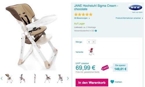 JANE Hochstuhl Sigma - jetzt 13% billiger