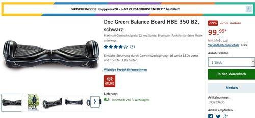 Doc Green Balance Board HBE 350 B2, schwarz - jetzt 47% billiger