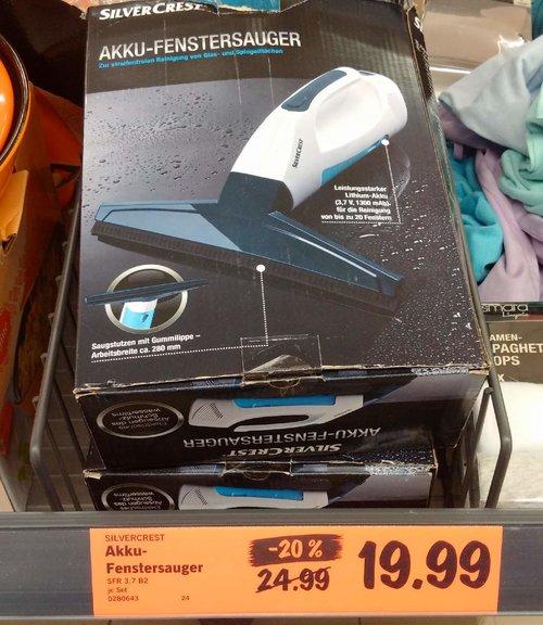 Akku-Fenstersauger - jetzt 20% billiger