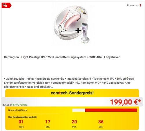 Remington i-Light Prestige Haarentfernungssystem IPL6750 - jetzt 13% billiger