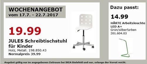 IKEA JULES Schreibtischstuhl für Kinder, weiß - jetzt 50% billiger