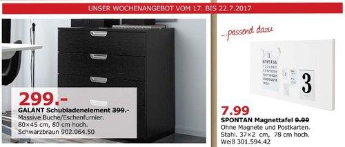 IKEA  GALANT Schubladenelement, 80x45 cm, 80cm hoch, schwarzbraun - jetzt 25% billiger