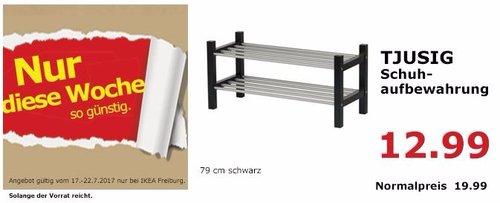 IKEA TJUSIG Schuhaufbewahrung, 79x32 cm 37 cm hoch, schwarz - jetzt 35% billiger