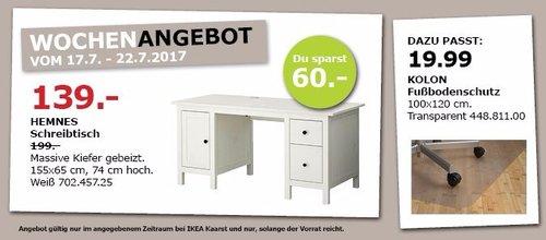 IKEA HEMNES Schreibtisch, 155x65 cm, 74 cm hoch, weiß - jetzt 30% billiger