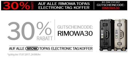 Nur Heute 30% Rabatt auf TOPAS RIMOWA Elektronik Tag Koffer (Bsp.: Titanium Multiwheel 77 New Generation) - jetzt 30% billiger