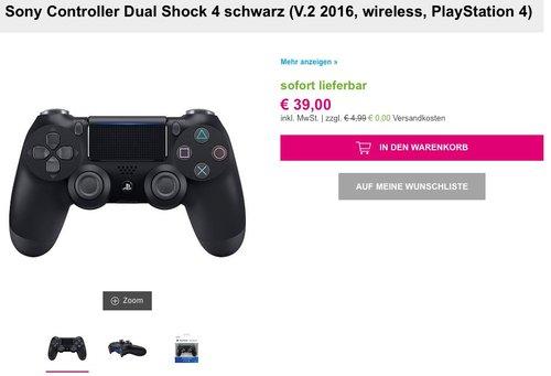 PlayStation 4 - DualShock 4 Wireless Controller - jetzt 15% billiger