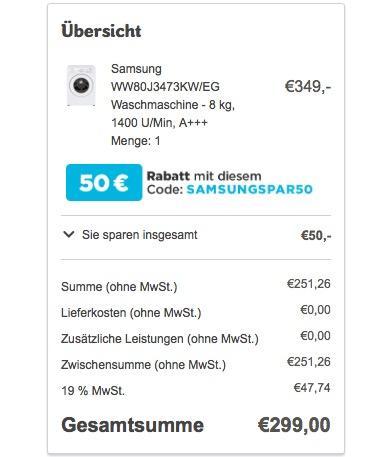 Samsung WW80J3473KWEG Waschmaschine / UpM 8 kg - jetzt 12% billiger