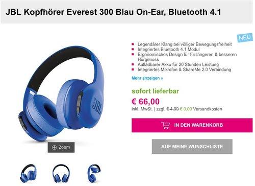 JBL Kopfhörer Everest 300 On-Ear - jetzt 44% billiger