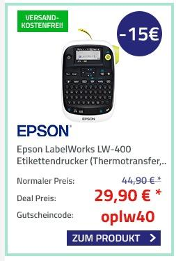 Epson LabelWorks LW-400 Etikettendrucker (180dpi) - jetzt 33% billiger