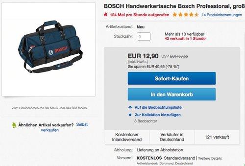 Bosch Tasche, groß M, WERKZEUGTASCHE - jetzt 17% billiger