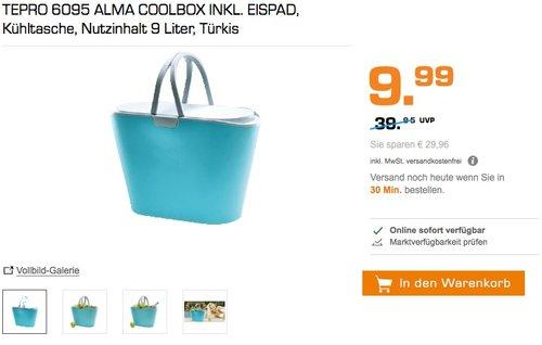 Alma Coolbox inklusive Eispad - jetzt 60% billiger