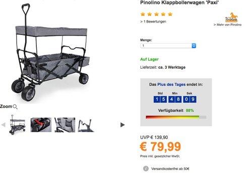 Pinolino Klappbollerwagen Paxi - jetzt 10% billiger