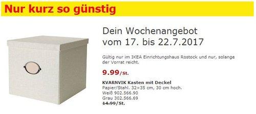IKEA  KVARNVIK Kasten mit Deckel, 32x35 cm, 30cm hoch, weiß oder grau - jetzt 33% billiger