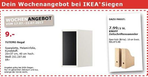 IKEA TUTEMO Regal, 20x37 cm, 40cm hoch, weiß - jetzt 53% billiger