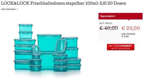 LOCK&LOCK Frischhaltedosen stapelbar 20 Dosen - jetzt 50% billiger