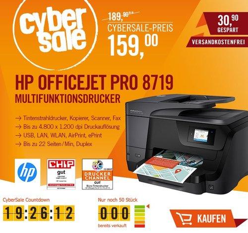 HP OfficeJet Pro 8719 Multifunktionsdrucker - jetzt 29% billiger