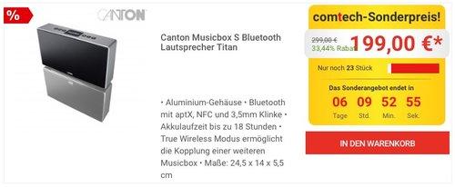 Canton Musicbox S Bluetooth Lautsprecher - jetzt 17% billiger
