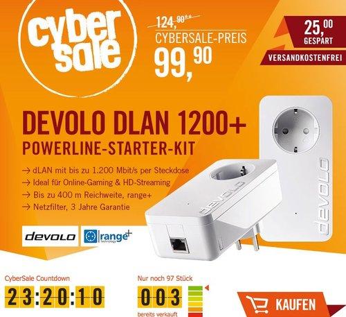 devolo dLAN 1200+ Starter Kit Powerline (1200 Mbit/s) - jetzt 17% billiger