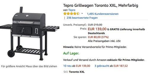 Tepro Grillwagen Toronto XXL - jetzt 18% billiger