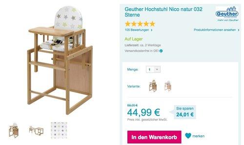 Geuther - Kombi-Hochstuhl Nico - jetzt 6% billiger